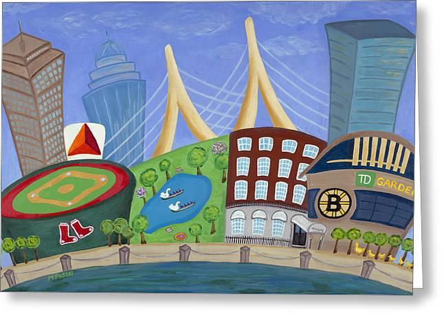A Bit O' Boston Greeting Card by Melissa Fassel Dunn