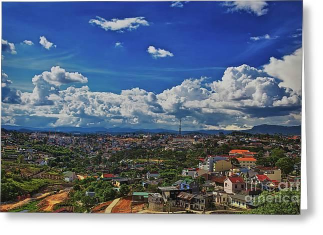 A Bit Of Disneyland In Dalat, Vietnam, Southeast Asia Greeting Card by Sam Antonio Photography