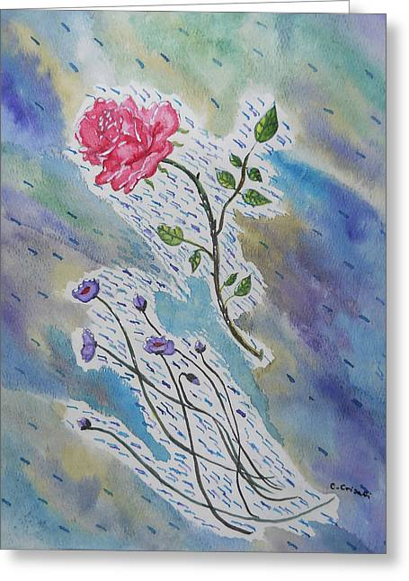 A Bit Of Whimsy Greeting Card by Carol Crisafi