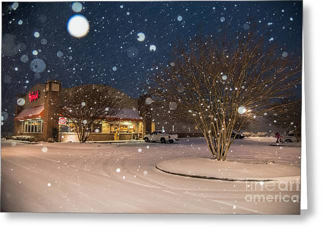 A Blizzard At Bojangles Greeting Card
