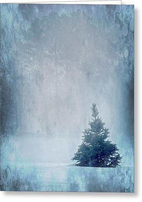 A Blue Christmas Greeting Card