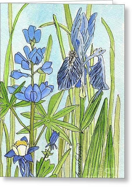 A Blue Garden Greeting Card