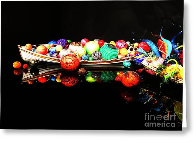 A Boatload Of Chihuli Greeting Card