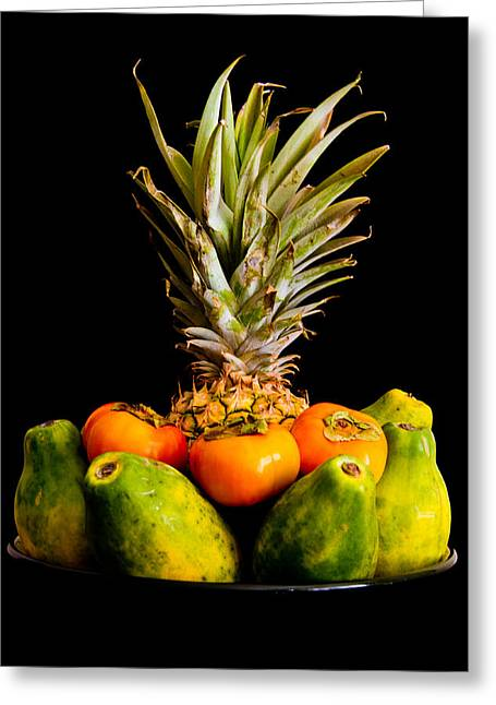 A Bowl Of Hawaiian Fruit Greeting Card by Roger Mullenhour