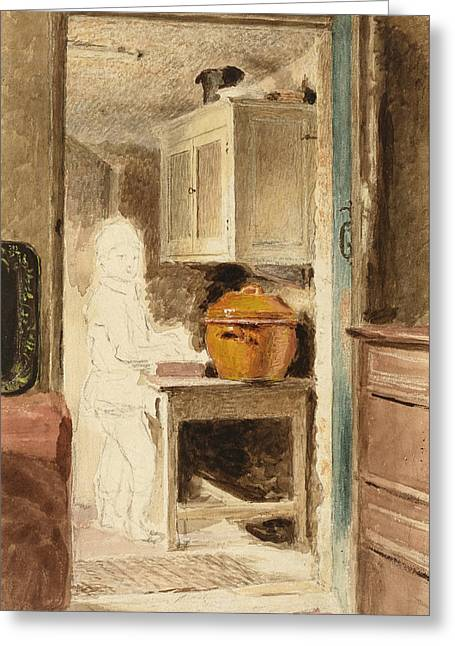 A Boy In The Pantry Greeting Card