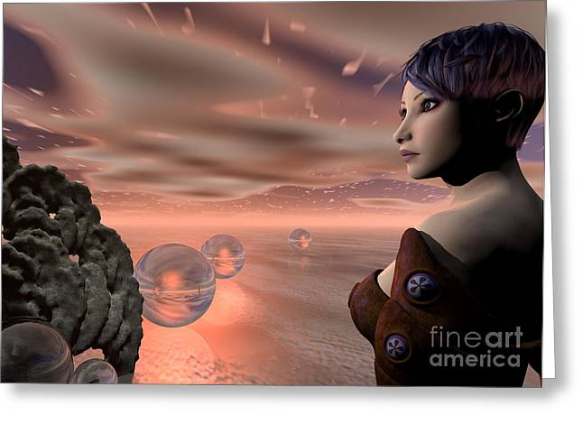 A Brave New World Greeting Card by Sandra Bauser Digital Art