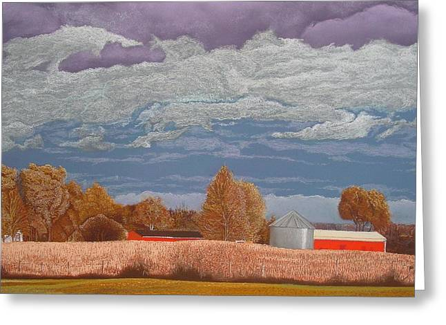 A Break In The Clouds Greeting Card by Harvey Rogosin