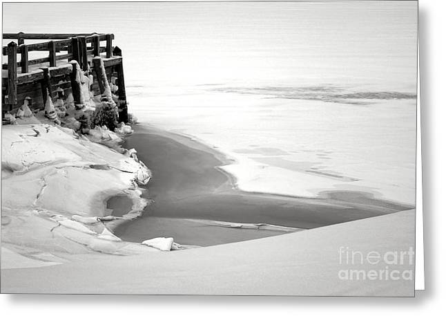 A Break In The Kennebec Greeting Card