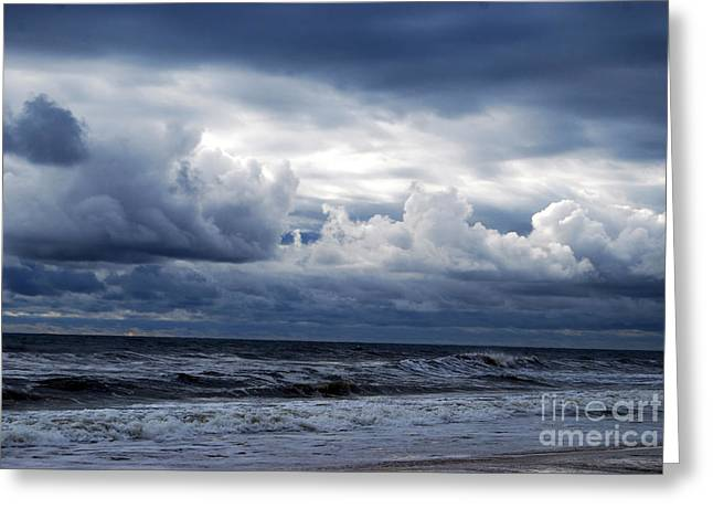 A Break In The Storm Greeting Card by Linda Mesibov