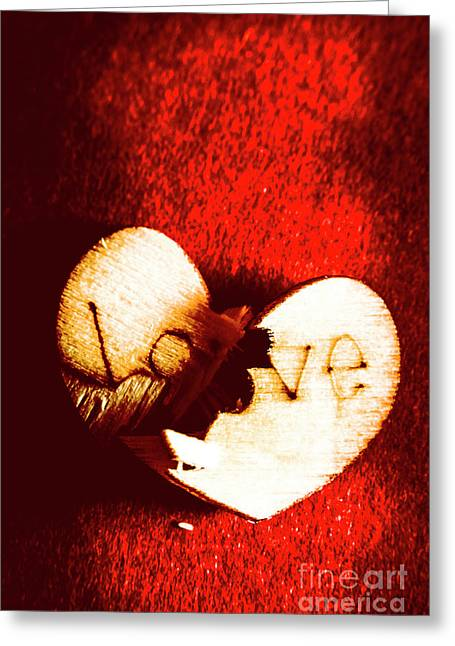 A Breakdown In Romance Greeting Card by Jorgo Photography - Wall Art Gallery