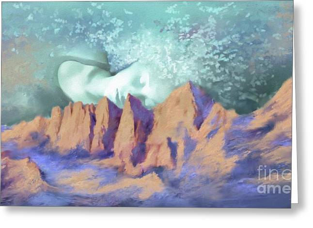 Greeting Card featuring the painting A Breath Of Tranquility by S G