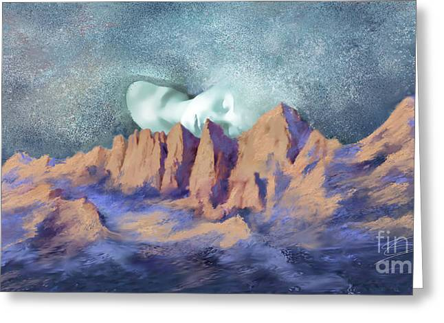 Greeting Card featuring the painting A Breath Of Tranquility by Sgn