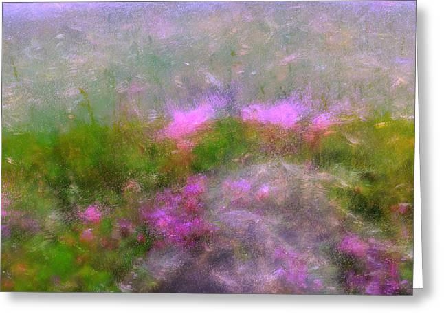 A Breeze In Monet's Garden Greeting Card