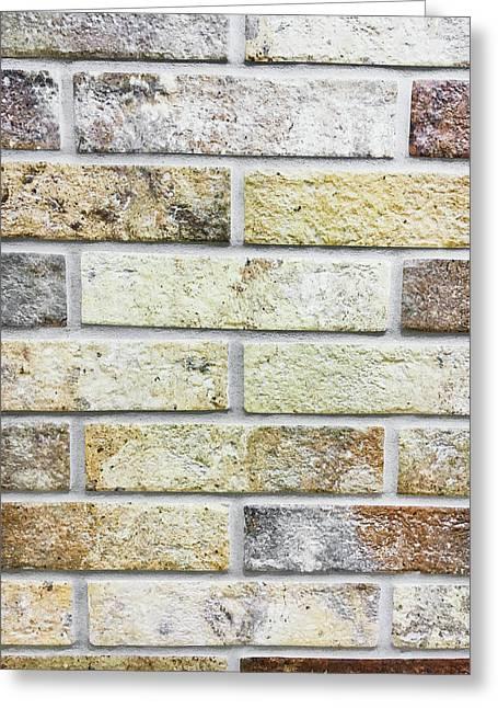 A Brick Wall Greeting Card by Tom Gowanlock