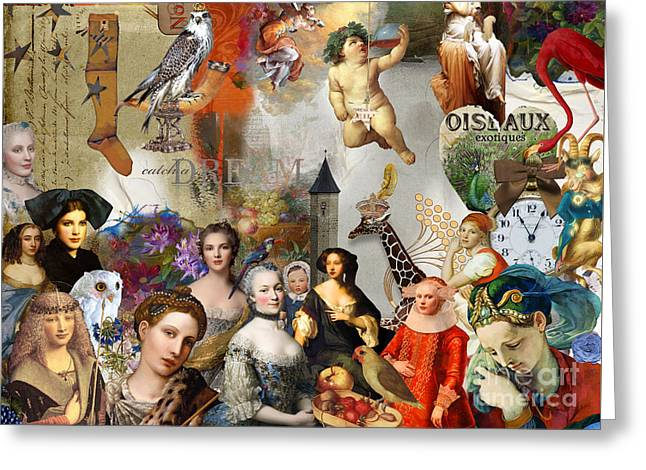 Greeting Card featuring the digital art A Brief History Of Women And Dreams by Nola Lee Kelsey