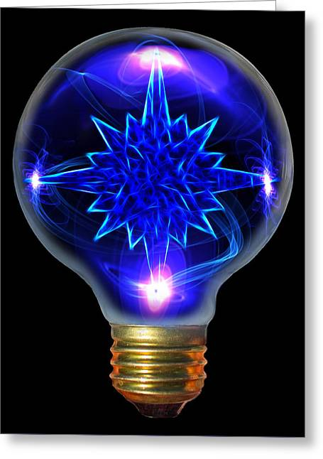A Bright Idea Greeting Card by Shane Bechler