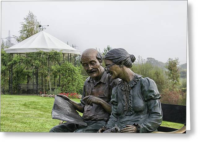 A Bronzed Couple Greeting Card