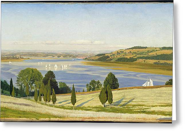 A Buckwheat Field On Thomas Coles Farm Greeting Card by Thomas Charles Farrer