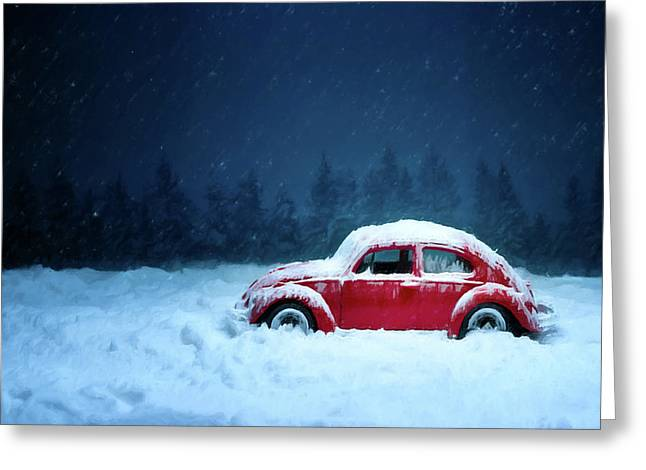 A Bug In The Snow Greeting Card