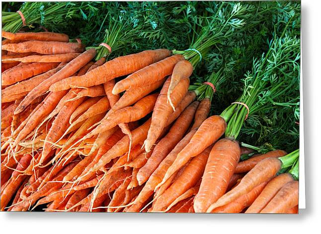 A Bunch Of Carrots Greeting Card by Todd Klassy