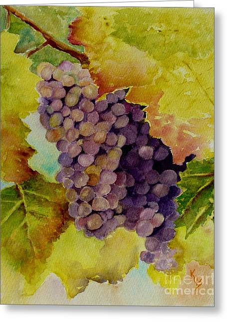 A Bunch Of Grapes Greeting Card