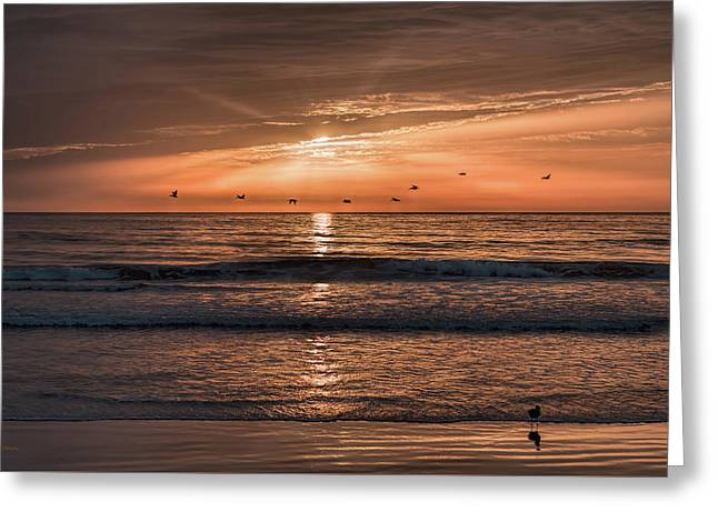 Greeting Card featuring the photograph A Burnished Sunrise by John M Bailey