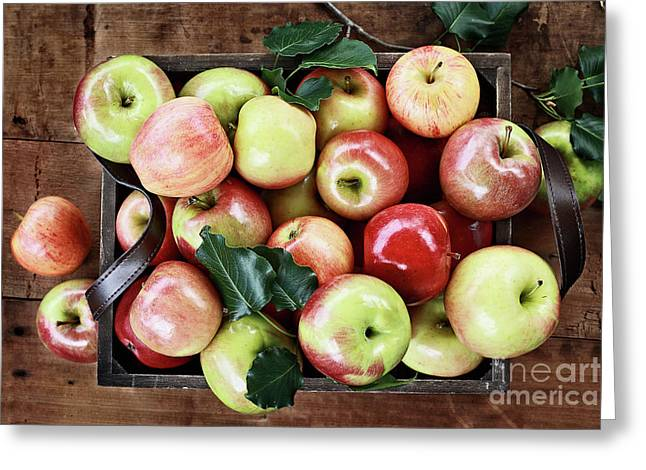Greeting Card featuring the photograph A Bushel Of Apples  by Stephanie Frey