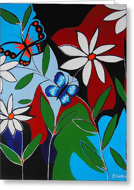 Greeting Card featuring the painting A Butterflies Paradise by Kathleen Sartoris