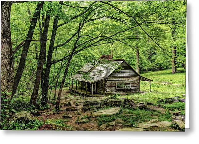 A Cabin In The Woods Greeting Card