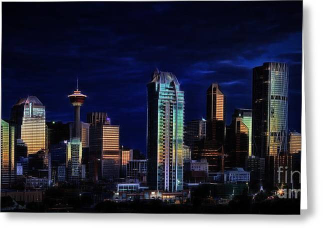 Greeting Card featuring the photograph A Calgary Sunrise by Brad Allen Fine Art