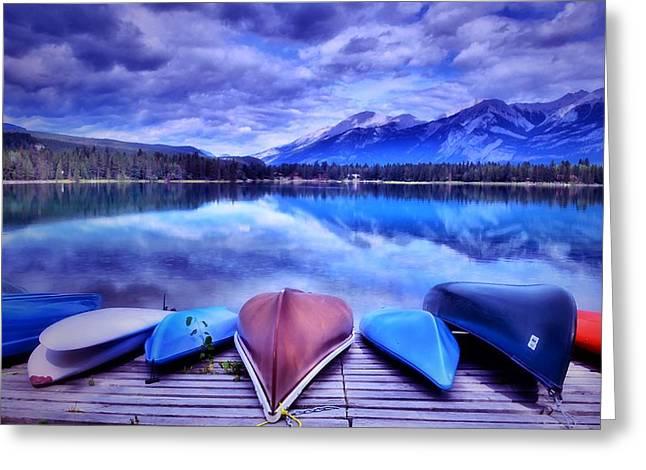 A Calm Afternoon At Lake Edith Greeting Card by Tara Turner