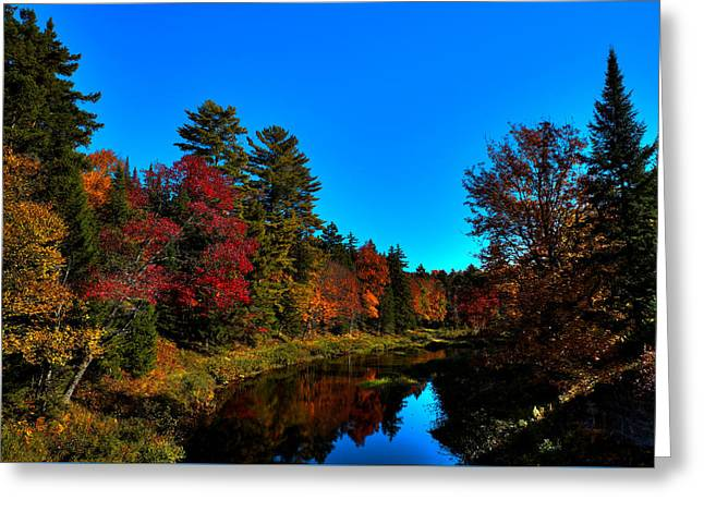 A Calm Fall Day On The Upper Moose Greeting Card
