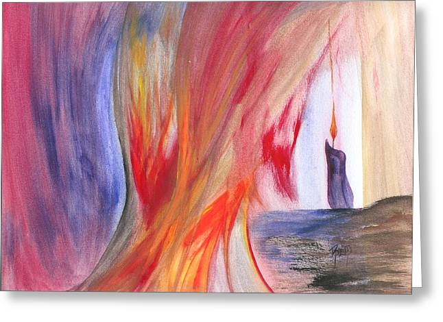 Recently Sold -  - Robert Meszaros Greeting Cards - A Candles Flame Greeting Card by Robert Meszaros