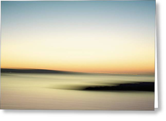 A Candy Colored Sunset Greeting Card by Julius Reque