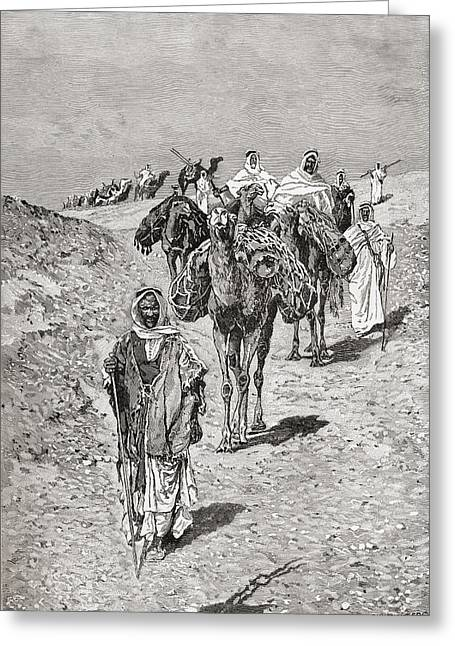 A Caravan, Africa In The Late 19th Greeting Card
