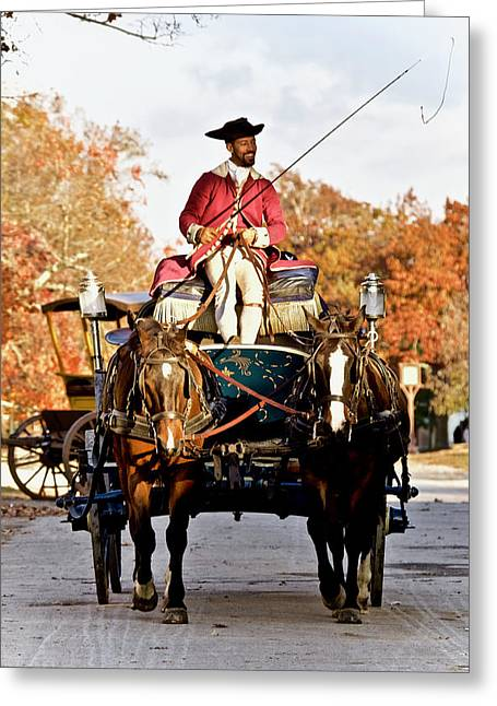Autumn Colonial Carriage  Greeting Card