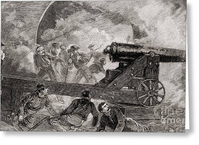 A Casemate During The Bombardment At The Battle Of Fort Sumter, 1861 Greeting Card