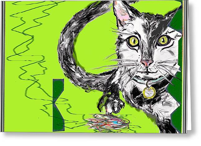 A Cat Greeting Card by Desline Vitto