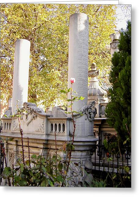 A Cemetery In Turkey Greeting Card