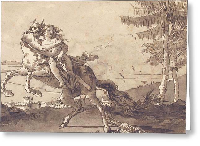 A Centaur Abducting A Nymph Greeting Card