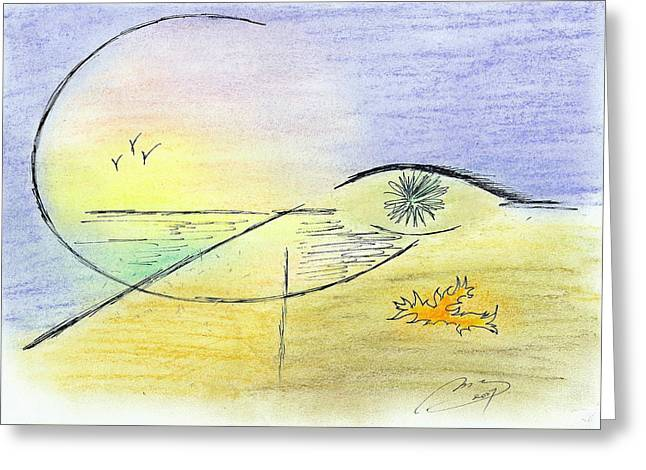 A Certain Look Greeting Card by M B