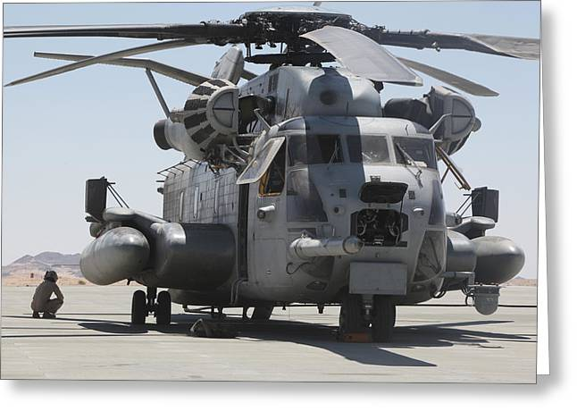 A Ch-53 Sea Stallion Helicopter Greeting Card