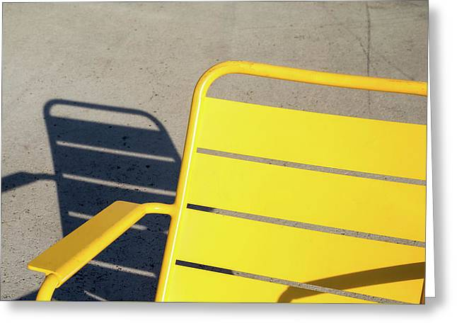 A Chair And Its Shadow Greeting Card