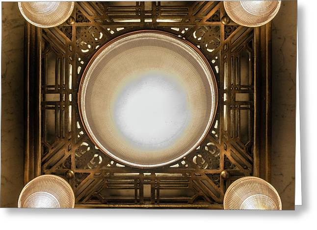 A Chandelier In The Rookery Greeting Card