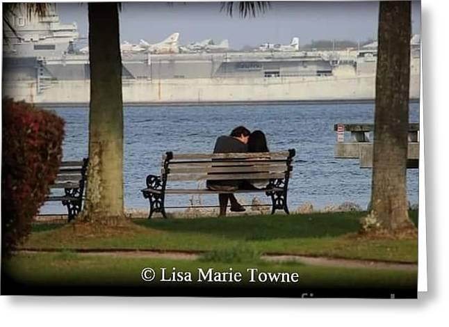 A Charleston Kiss Greeting Card