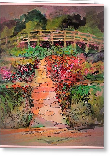 A Charming Path Greeting Card by Mindy Newman