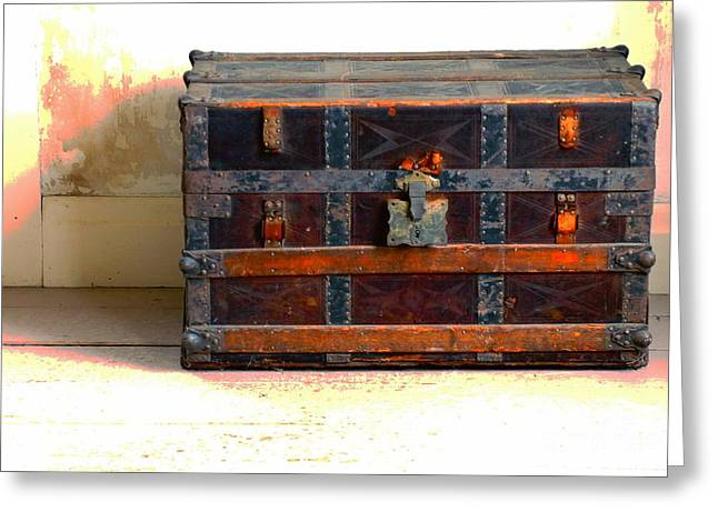 A Chest Of Past Adventures Greeting Card