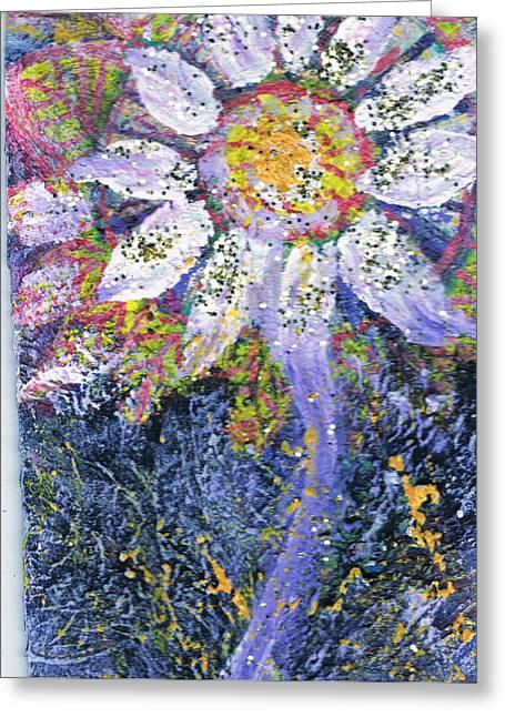 A Child Is Like A Flower Greeting Card by Anne-Elizabeth Whiteway