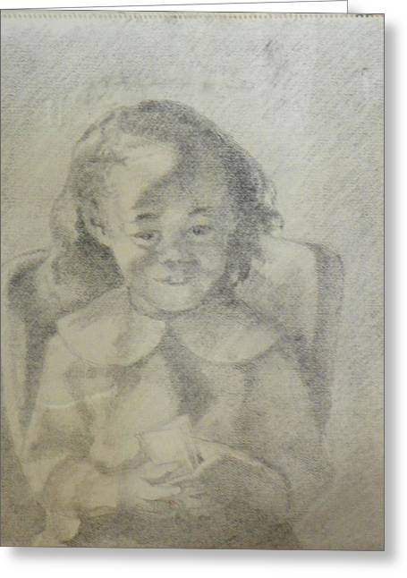 A Child Portrait Greeting Card