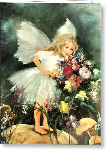 A Childs Dream Greeting Card by Sally Seago